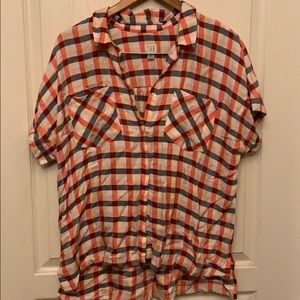 A New Day Short Sleeve Button Down NWOT